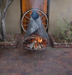 origami fireplace by prometheandesigns $650