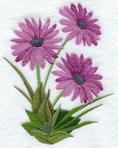 """Definitely DaisiesProduct ID:E6119 Size:4.87""""(w) x 6.22""""(h) (123.7 x 158 mm)Color Changes:12 Stitches:41937Colors Used:10"""
