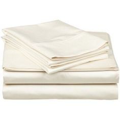 Superior 300 Thread Count Egyptian Quality Cotton Deep Pocket Solid Sheet Set, Beige