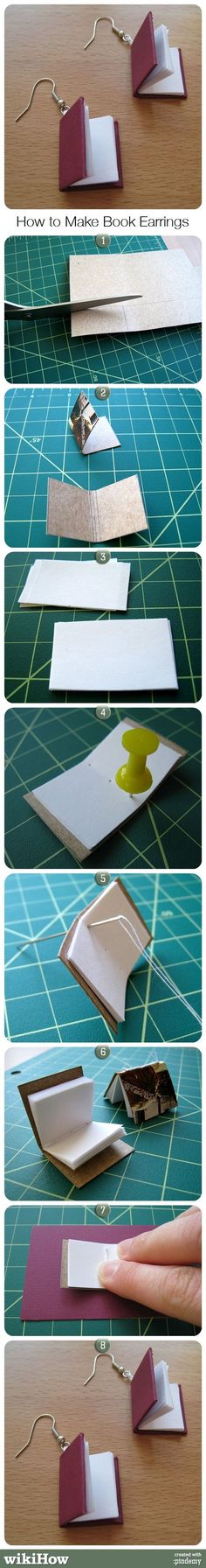 How to Make Book Earrings - Cool idea for Tales of Adventure merchandise!