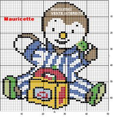 Tchoupi  hama perler beads pattern by Mauricette
