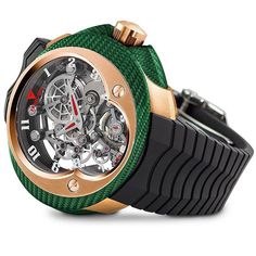 Franc Vila Cobra suspended skeleton in red gold and green texalium, MEXICO EDITION.