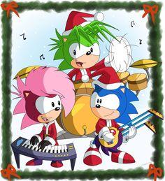 The Sonic Underground - Sonic the Hedgehog, Manic the Hedgehog and Sonia the Hedgehog - Hey, maybe they're singing Jingle Bells!