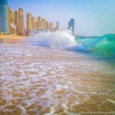 On the beach in Dubai. Photo courtesy of sennarelax on Instagram.