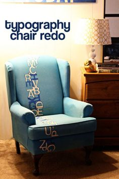 typography chair redo