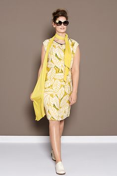 Floral Giallo | Fashion | Lookbook | Yellow | Dress | Leaves print