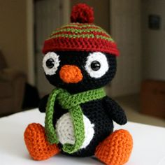 Pepe the Penguin by Little Muggles crochet pattern $4.99 on Amigurumipatterns.net at http://www.amigurumipatterns.net/shop/Little-Muggles/Pepe-the-Penguin/