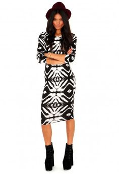 Peris Long Sleeve Tie Dye Midi Dress - Dresses - Missguided