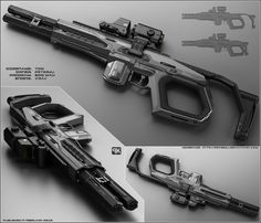 TOM - Concept of futuristic shotgun by peterku.deviantart.com on @DeviantArt