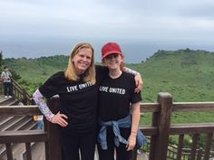 Pam O'Brien in Seongsan Ilchulbong, Jeju, South Korea. 7,928 miles from the Town of Palm Beach United Way office.
