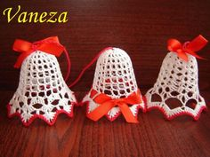 Christmas Bells, Christmas Time, Christmas Ornaments, Crochet Purses, Plastic Canvas, Doilies, Decorative Items, Sewing, Knitting