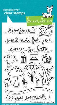 Lawn Fawn - Gleeful Gardens Stamp