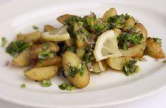 Græske kartofler med citrondressing
