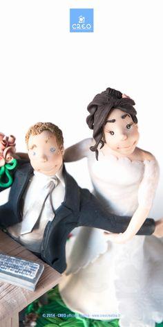 Wedding Cake Topper by CREO officina creativa | #caketopper #wedding #sposi #HandMadeInItaly
