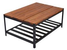 mesa ratona hierro y madera - para interior o exterior!