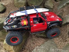 Axial SCX 10 Toyota Hilux truggy. Custom build by us; facebook.com/RCcarbodyshop