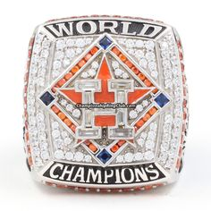 2017 Houston Astros World Series Championship Ring Houston Rockets, Houston Astros, Astros World Series, Military Shadow Box, Only In Texas, Ring Of Honor, Sports Today, Championship Rings, H Town