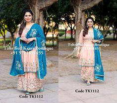 Embroidery Suits Punjabi, Embroidery Suits Design, Embroidery Fashion, Punjabi Suits Designer Boutique, Indian Designer Suits, Boutique Suits, Latest Bridal Dresses, Latest Fashion Dresses, Trendy Suits