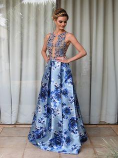 Vestido de madrinha azul 2016