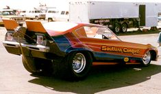 """The """"Southern Comfort"""" Vega funny car owned by George and Dan Southern"""