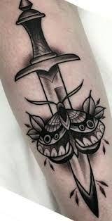 Resultado de imagem para flower dagger tattoo