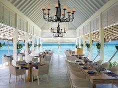 On the menu tonight at @Mandy Dewey Seasons Resorts Maldives? An Indian Ocean view. #FSResorts