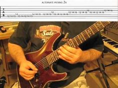 """Alternate Picking"" Guitar Exercise 3 notes per string. With Edward Andrew !00% FREE ""Guitar Lesson"" with Tabs included Created for Youtube Online guitar Tutorial.      Get more Free Guitar lessons w/ tabs on our Facebook page at ... http://www.facebook.com/pages/Free-Guitar-Lessons-with-Edward-Andrew/132755543482732      FOR MORE FREE GUITAR LESSONS ..."
