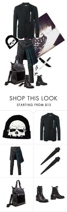 """""""Mean muggin"""" by archfiend ❤ liked on Polyvore featuring Concept One, Dsquared2, Steve Madden, men's fashion and menswear"""