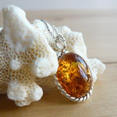 Baltic Amber Necklace Amber Jewelry set in by TaliaJewelry on Etsy