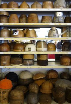 Hat blocks at Lola Hats. Oh to have these for felting!