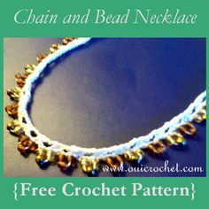 Chain and Bead Necklace {Free Crochet Pattern}