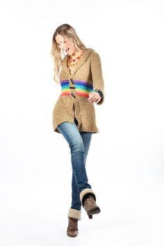 tapado arcoiris — de las bolivianas Crochet Coat, Crochet Cardigan, Knits, Shawl, October, Abs, Textiles, Knitting, Sweaters