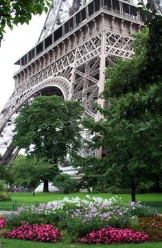 Eiffel Tower Garden Photograph by Margie Wildblood - Eiffel Tower Garden Fine Art Prints and Posters for Sale