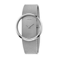 Γυναικείο quartz ελβετικό ρολόι Calvin Klein K9423T27 Glam με διαφανές καντράν και μπρασελέ σε στυλ ψάθας | Ρολόγια CK ΤΣΑΛΔΑΡΗΣ στο Χαλάνδρι #Calvin #Klein #Glam #tsaldaris
