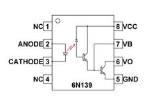 is an optocoupler IC designed for isolating primary circuit and secondary circuit electrically but the pair of LED and photodiode - Darlington setup forms the triggering mechanism between the two sides Electronic Circuit Design, Electronic Parts, Chemical Engineering, Electrical Engineering, Electronics Mini Projects, Car Ecu, Dc Circuit, Power Supply Circuit, Catering Companies