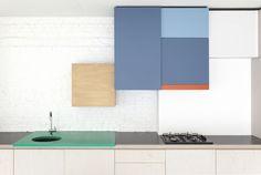 Colour block amazingness! Dries Otten kitchen