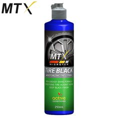 Non-greasy Model: MA-T250 Shine formula Conditions Tire against aging Deep Black Finish 250mL Active Conditioner Moisturizing Tire Anti-dust Prevents Cracking Contains: Silicone fluids, Emulsifiers, Conditioning agent