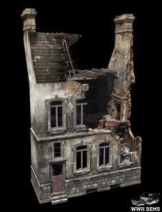 WWII Building by mitchGLADNEY.deviantart.com on @deviantART