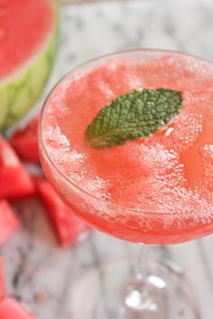 A Fabulous Fete: watermelon champagne cocktail
