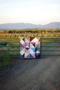 pattern: Modblocks by johanna masko, quilted by heyporkchop