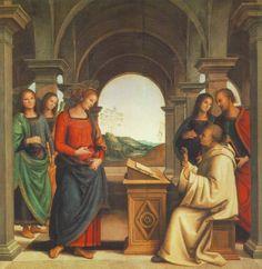 Pietro Perugino: Die Vision des Bernhard, 1493, Alte Pinakothek in München