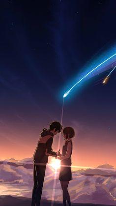 Kimi no na wa ✨ anime movie phone wallpaper ❣ Enjoy!
