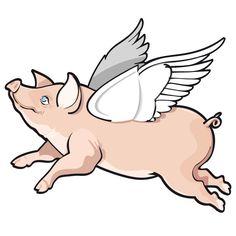 free flying pig clipart flying pig outline pigs pinterest rh pinterest co uk Pig Sty Pig Art