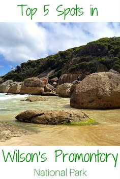 5 great spots to visit in Australia's Wilson's Promontory National Park - Victoria, Australia, including the aptly named Squeaky Beach! Australia Tours, Coast Australia, Visit Australia, Australia Travel, Melbourne, Sydney, Australian Road Trip, Australian Beach, Great Barrier Reef