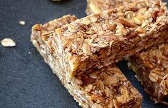Apple Pie Baked Granola Bars (2 c oats, 1/2 c coconut, 1/2 c pecans, 1/3 c dates, 1/4 c coconut oil, 1/3 c honey, 1 c dried apples)