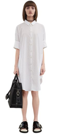 Acne Studios Lash Sh Piqu Pique shirt dress