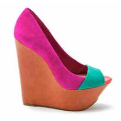 love these wedges almost as much as i love these colors