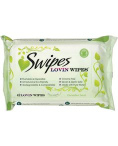 Swipes Love Wipes - Cool Cucumber - Pure and all natural, safe and mild, and completely free from harmful chemicals ingredients; Swipes Lovin Wipes are gentle, effective biodegradable wipes to refresh your most sensitive areas before or after intimate moments. And unlike messy or unsanitary substitutes, Swipes Lovin Wipes are made specifically to fulfill your needs as genuine sex wipes. They leave you clean, refreshed and confident - a perfect state of mind for every romantic encounter