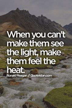 When you can't make them see the light, make them feel the heat. #leadership #quote