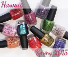 OPI Hawaii Spring 2015 Swatches & Review alllacqueredup.com